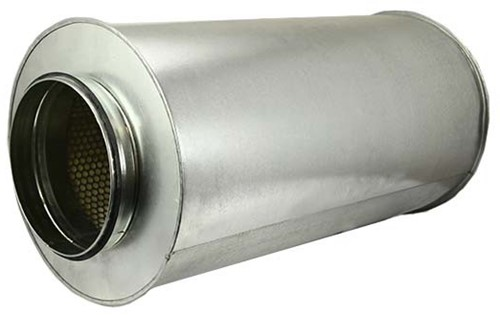 Schalldämpfer Durchmesser 100 mm - Länge 1200 mm (50 mm Isolierung)
