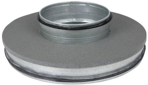 Thermoduct-Deckel 355mm mit flachem Ausguss 160mm isoliert