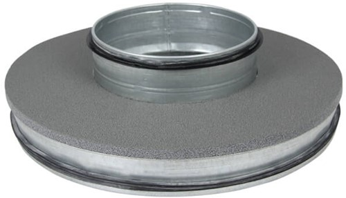 Thermoduct-Deckel 400mm mit flachem Ausguss 160mm isoliert