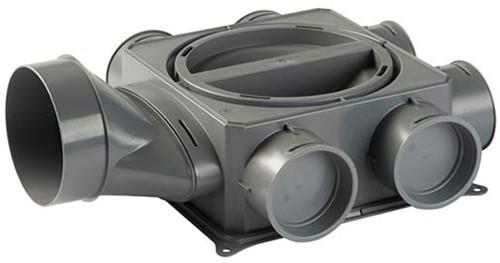Ubbink DBOX 206H125 Luftverteilerkasten mit horizontalem Hauptanschluss -6 Anschlüsse