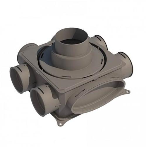Ubbink Luchtverdeelkast DB206 V125 - verticale hoofdaansluiting max. 125 mm