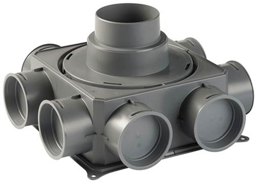 Ubbink Luchtverdeelkast DB208 V125 - verticale hoofdaansluiting max. 125 mm