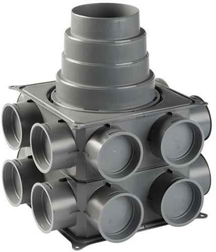 Ubbink Luchtverdeelkast DBOX 208V180VE verticaal uitgebreid - 16 aansluitingen - max. 180 mm