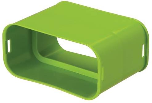 Ubbink-Kupplung flach oval 50x100