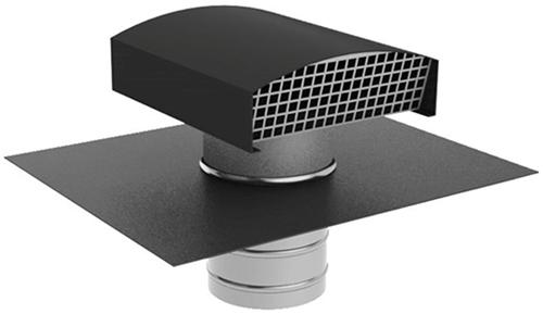 Ubbink Ubvent Dachdurchführung Ø 125 mm in Aluminium anthrazit mit Abdeckung
