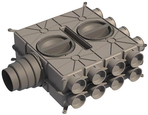 Ubbink Universal-Luftverteilerdose DBOX - 16 Anschlüsse