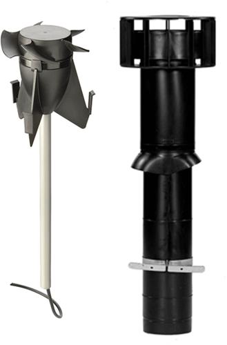 Kombipaket Ubbink Hybridlüfter + Multivent Dachdurchführung schwarz - Länge 750 mm