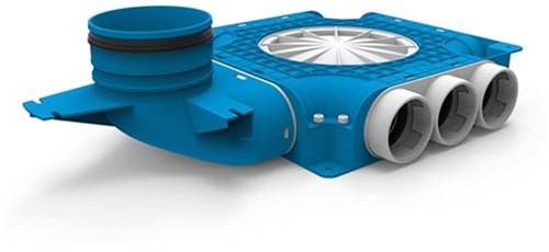 Uniflexplus zusammengesetzter Verteiler 9x Ø63mm mit vertikaler Tülle Ø125mm