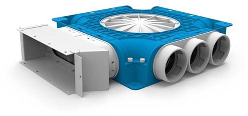 Uniflexplus zusammengesetzter Verteiler 9x Ø63mm für Flachkanal 220x80mm