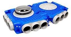 Uniflexplus Verteiler mit Seitenanschluss 18x Ø63 mm mit Tülle  Ø160 mm