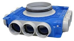 Uniflex Plus Subverteilbox 12x Ø 63 mm mit Tülle Ø 160 mm