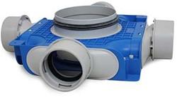 Uniflex Plus Subverteilbox 4x Ø 90 mm mit Tülle Ø 180 mm