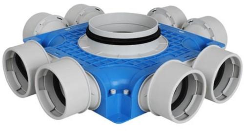 UniflexPlus Subverteilerbox 8x Ø90 mm mit Tülle Ø125 mm