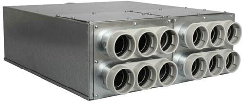 Uniflexplus Verteiler mit Schalldämpfer 12x Ø63 mm mit Tülle Ø125 mm