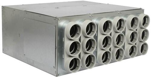 Uniflexplus Verteiler mit Schalldämpfer 18x Ø63 mm mit Tülle  Ø125 mm
