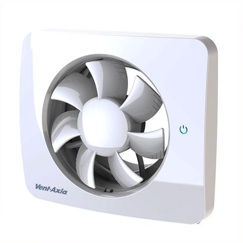 Svensa PureAir Badlüfter mit Geruchs-, Feuchtigkeits- und Lichtsensor + Timer 100-125mm (Steuerung über eine App)