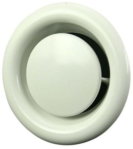 Tellerventil Metall Ø 125 mm Weiß mit Federklammern (DVSC125)