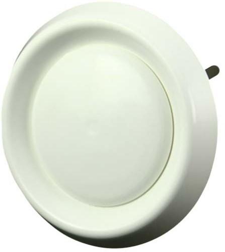 Tellerventil Kunststoff rund Ø 100 mm Weiß mit Federklammern - DAV100