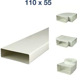 Flachkanale und Formteile Kunststoff 110x55