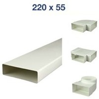 Flachkanale und Formteile Kunststoff 220x55