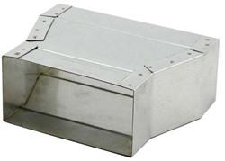 Flachkanal Reduzierstück 165x80 - 220x80 mm