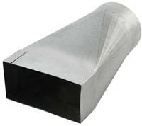 Reduzierstück für Flachkanal 165x80 nach Rohr Ø 125 mm