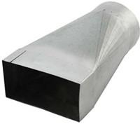 Reduzierstück für Flachkanal 220x80 nach Rohr Ø 160 mm