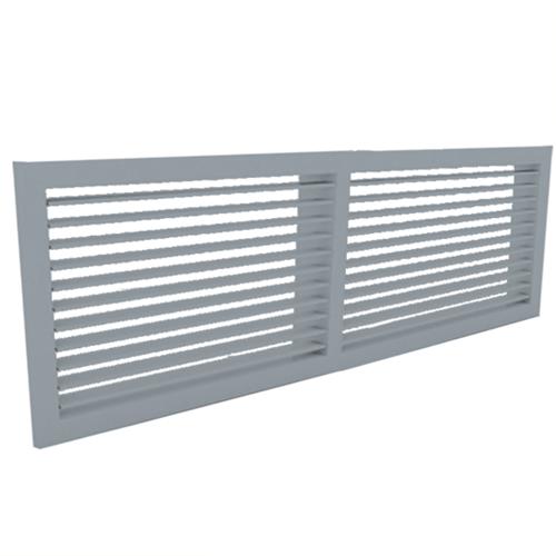 Wandgitter 600x100 Stahl mit Schraubbefestigung und einfachen verstellbaren Lamellen - Mischfarbe RAL 7001