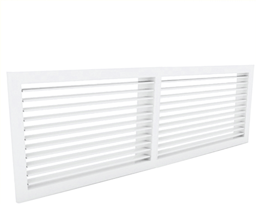 Wandgitter 800x400 Stahl mit Schraubbefestigung und einfachen verstellbaren Lamellen - Mischfarbe RAL 9003