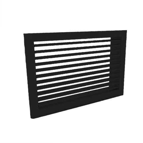 Wandgitter 300x300 Stahl mit Schraubbefestigung und einfachen verstellbaren Lamellen - Mischfarbe RAL 9005