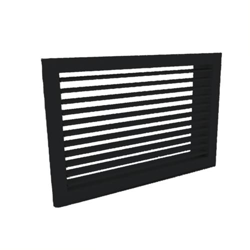 Wandgitter 400x100 Stahl mit Schraubbefestigung und einfachen verstellbaren Lamellen - Mischfarbe RAL 9005
