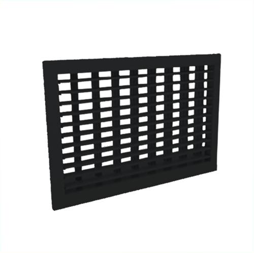 Wandgitter 400x100 Stahl mit Schraubbefestigung und doppelten verstellbaren Lamellen - Mischfarbe RAL 9005