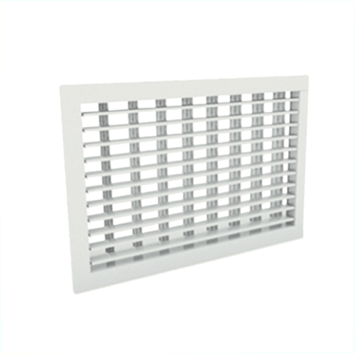 Wandgitter 200x150 Stahl mit Schraubbefestigung und doppelten verstellbaren Lamellen - Mischfarbe RAL 9010