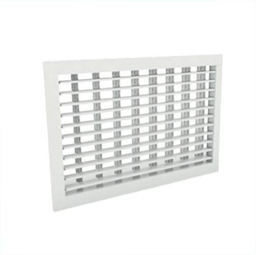 Wandgitter 500x200 Stahl mit Schraubbefestigung und doppelten verstellbaren Lamellen - Mischfarbe RAL 9010