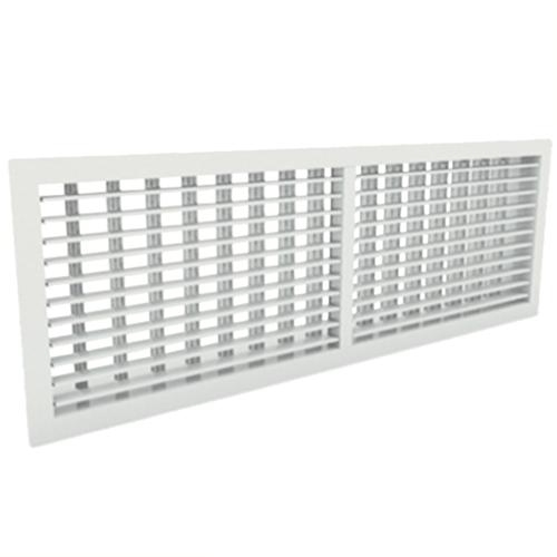 Wandgitter 600x150 Stahl mit Schraubbefestigung und doppelten verstellbaren Lamellen - Mischfarbe RAL 9010