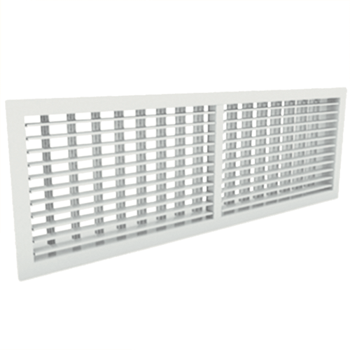 Wandgitter 600x300 Stahl mit Schraubbefestigung und doppelten verstellbaren Lamellen - Mischfarbe RAL 9010