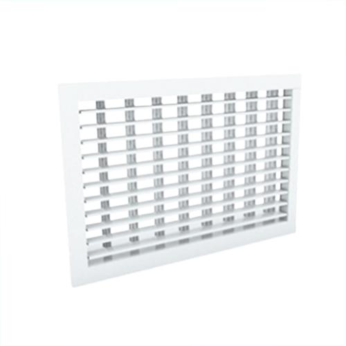 Wandgitter 400x400 Stahl mit Schraubbefestigung und doppelten verstellbaren Lamellen - Mischfarbe RAL 9016
