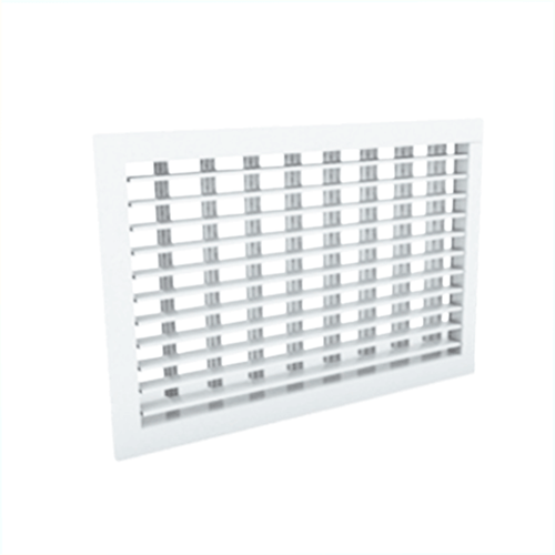 Wandgitter 500x300 Stahl mit Schraubbefestigung und doppelten verstellbaren Lamellen - Mischfarbe RAL 9016