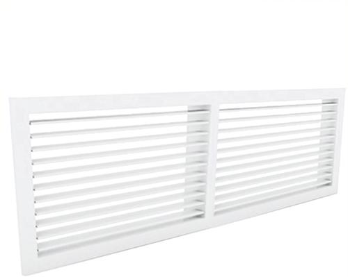 Wandgitter 600x100 Stahl mit Schraubbefestigung und einfachen verstellbaren Lamellen - Mischfarbe RAL 9016