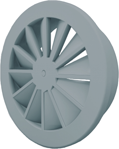 Dralldurchlass mit zentrale Schraubbefestigung 315 mm mit Übergangsstück für oberanschluss 250 mm - Mischfarbe RAL 7001