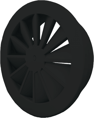 Dralldurchlass mit zentrale Schraubbefestigung 315 mm mit Seitenanschluss nicht isolierter Anschlusskasten 250 mm - Mischfarbe RAL 9005