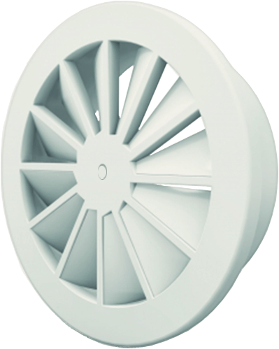 Dralldurchlass mit zentrale Schraubbefestigung 160 mm mit Seitenanschluss nicht isolierter Anschlusskasten 125 mm - Mischfarbe RAL 9010