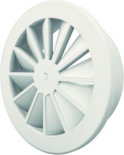 Dralldurchlass mit zentrale Schraubbefestigung 200 mm mit Seitenanschluss nicht isolierter Anschlusskasten 160 mm - Mischfarbe RAL 9016