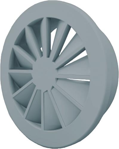 Dralldurchlass 160 mm mit Übergangsstück für oberanschluss 125 mm - Mischfarbe RAL 7001