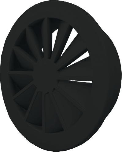 Dralldurchlass 315 mm mit Seitenanschluss nicht isolierter Anschlusskasten 250 mm - Mischfarbe RAL 9005