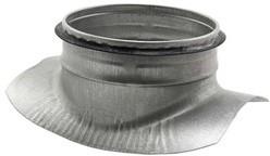 Spiro-Safe Wickelfalz Sattelstück 90° Ø80 mm - Ø80mm