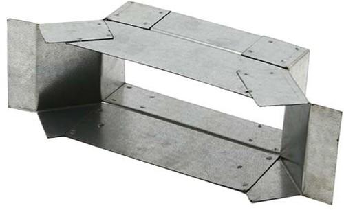 Seitenanschluss für Flachkanal 165x80